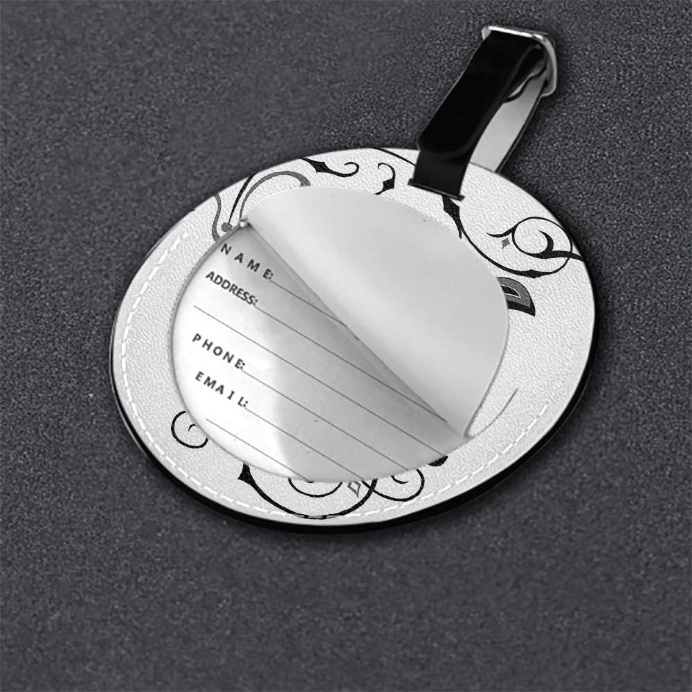 Microfiber PU leather Round luggage tag 1 pcs,2 pcs,4pcs