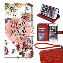 iPhone 6/6s 4.7 Wallet Case,Bible Verse Christian Quotes PU Leather Wallet Case with Card Holders