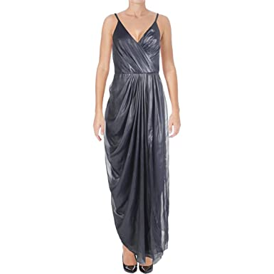 dc6040a6ac21 Vera Wang Women's Sleeveless Gown with Draped Side at Amazon Women's ...