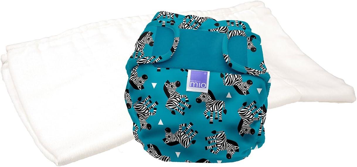 kit di prova 9 kg Bambino Mio taglia 1 miosoft pannolino lavabile in due pezzi zebra