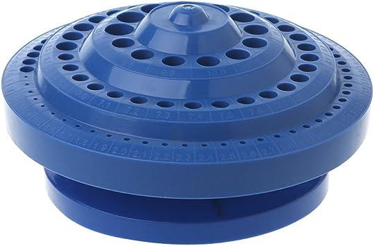 Fogun - Estuche organizador de brocas de plástico duro, forma redonda, 100 unidades: Amazon.es: Bricolaje y herramientas