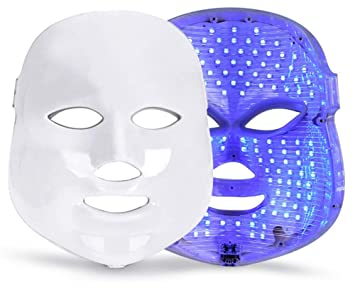 Amazon.com : 7 Colours LED Facial Mask Mascara Facial ...