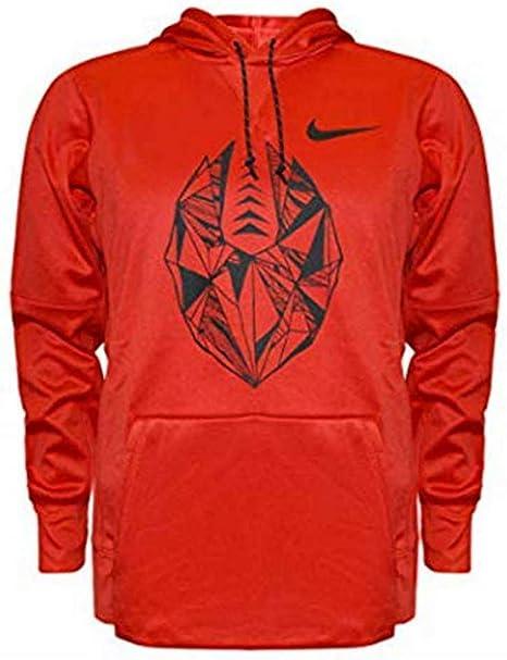 nike swoosh hoodie orange