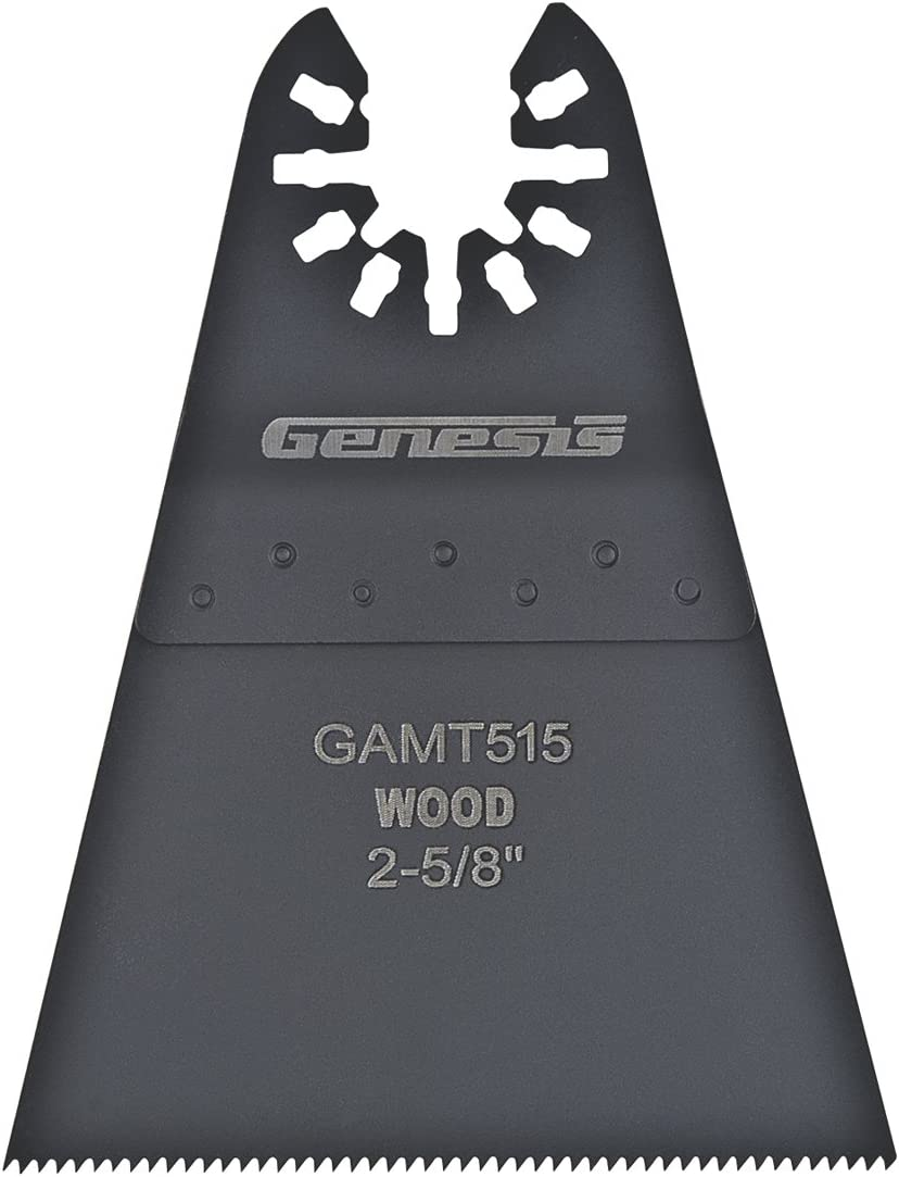 "Genesis GAMT515 Universal Quick-Fit 2 5/8"" Oscillating Multi-Tool Quick-Release Wide Flush Cut Blade"
