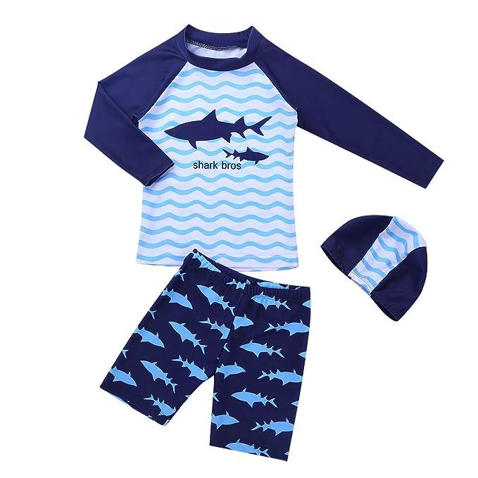 YiZYiF Traje de Baño Neopreno Tiburón para Niños Niñas ...
