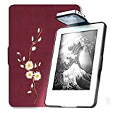 Electronics : Young Me All New Kindle E-reader Rechargeable Led Light and Auto Wake/Sleep and Hand Strap Leather Cover/Case for Kindle 2016 6 inch 8th generation( Not Fit Kindle Paperwhite) Daisy