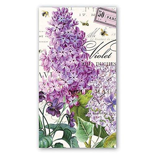 Michel Design Works 15 Count 3-Ply Paper Hostess Napkins, Lilac/Violets