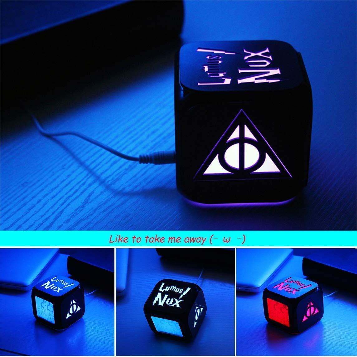 Nei/%Yi NEIYI R/éveil St/ér/éo 3D Harry Potter LED Silencieuse Veilleuse Technologie Mode R/éveil Mort Sacrement Sept Couleurs