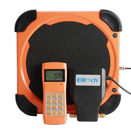 Elitech LMC-310A Báscula Electrónica Refrigerante, HVAC y AC Automatizada con Monitor Portátil y Monitor de LCD, la Medida Más Pesada 100KG✩Garantía ...