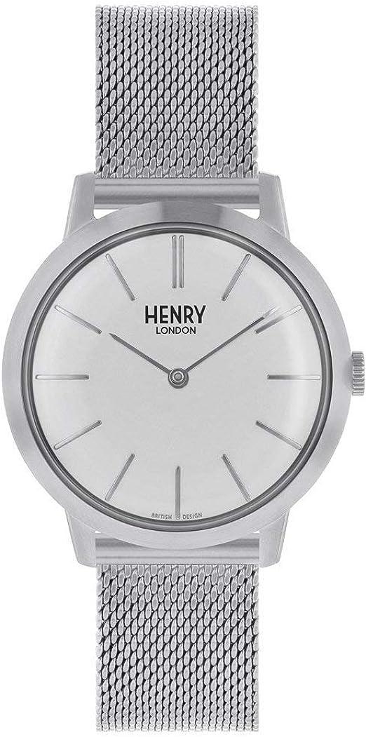 Henry London Reloj Analógico para Mujer de Cuarzo con Correa en ...