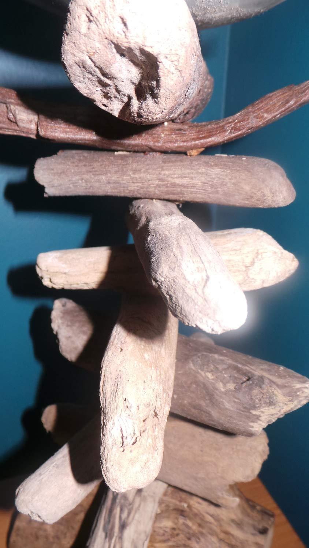 Quay Large 30cm Rustic Driftwood Pillar Candle Holder