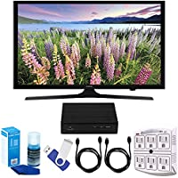 Samsung UN49J5000 - Flat 49 LED HD 5 Series Smart TV (2017 Model) Plus Terk Cut-the-Cord HD Digital TV Tuner and Recorder 16GB Hook-Up Bundle