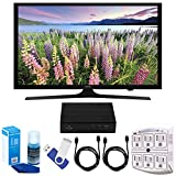 Samsung UN49J5000 - Flat 49'' LED HD 5 Series TV (2017 Model) Plus Terk Cut-the-Cord HD Digital TV Tuner and Recorder 16GB Hook-Up Bundle