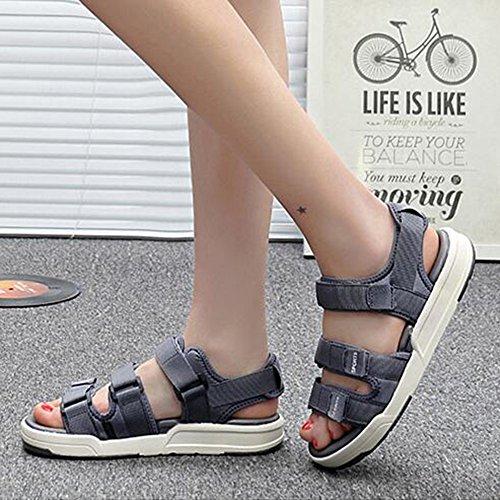 Tissu Couleur Gray Hommes Chaussures Sunny Extérieur Couleurs 5 EU42 UK8 Sandales Gray Slip Non Cinq Plage Taille Été TPxx5Ewvq