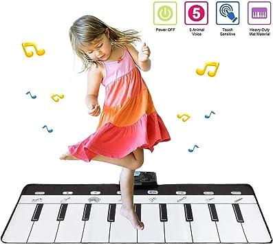 Babyhelen Tappeto Musicale Bambini Piano Mat Tastiera Danza Stuoia Musica Tastiera Pianoforte con 8 Suoni Strumenti Musicali Giocattolo Gioco Educativo Regalo per Bambini Ragazzi 110*36 cm