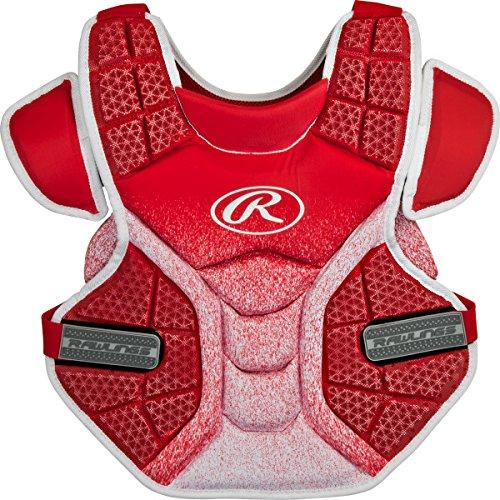 Rawlingsスポーツ用品ソフトボール保護用Velo Chestプロテクター14インチsbcpvel B01HSHGG5Kスカーレット/ホワイト