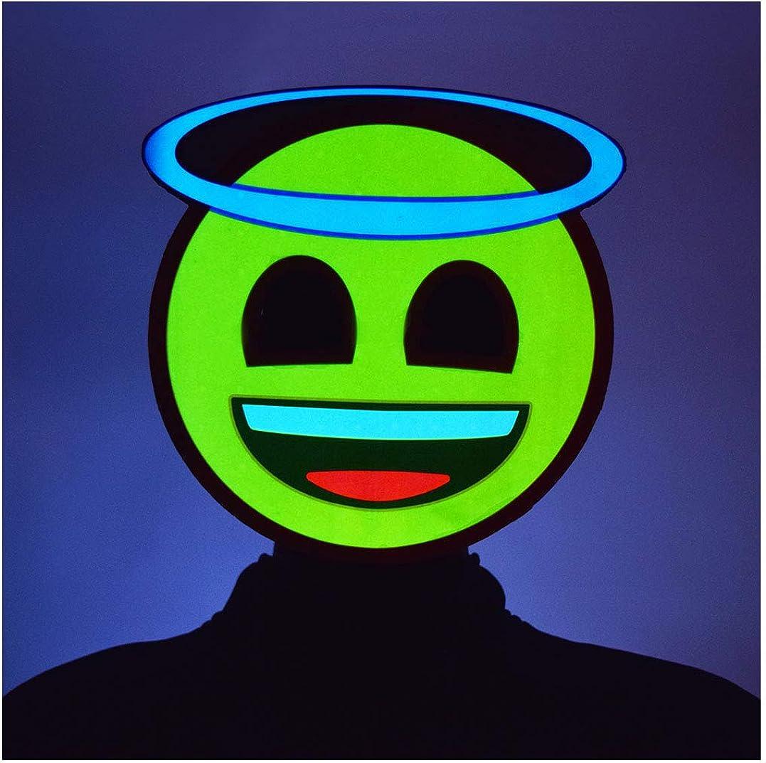 GlowCity Light-Up Emoji Mask – Brighter Than LED, Flash Modes