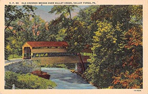 Valley Forge Pennsylvania Valley Creek Covered Bridge Antique Postcard J70578