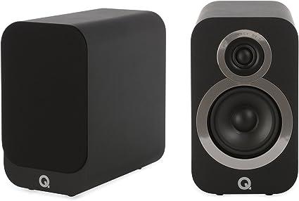 Q Acoustics 3010i–Altavoces de estantería (2unidades), color negro