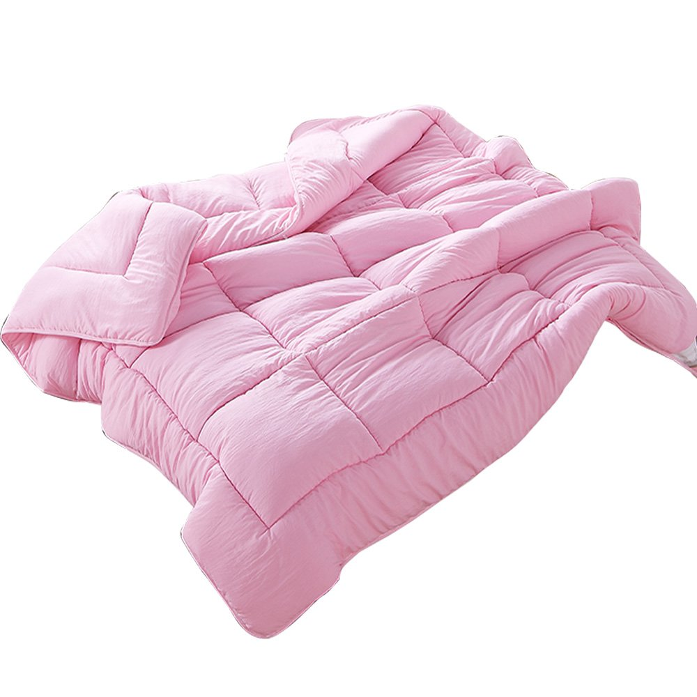 NATURETY All Season Down Alternative Quilted Comforter,Washable Duvet Insert (King, Pink)