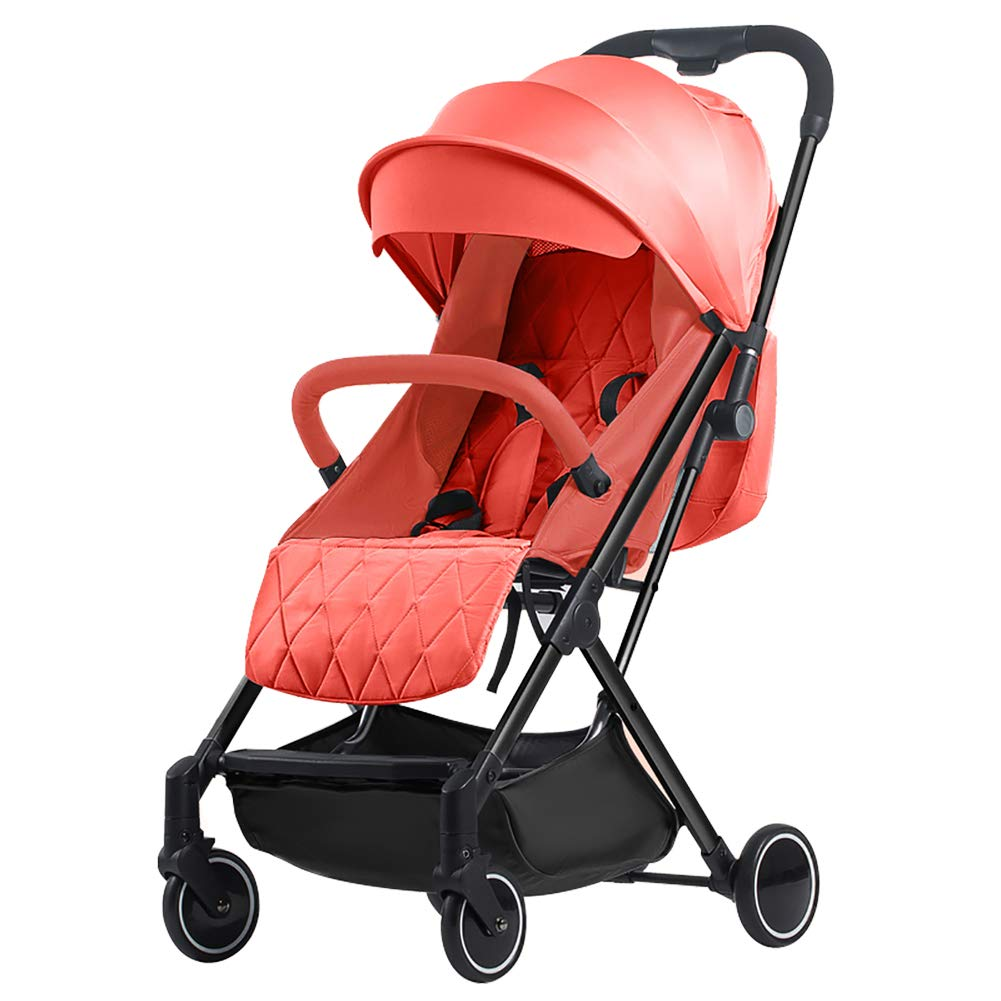 AMENZ Strollers Trolley Trolley Cot Twin Pushchair High Landscape Away from Automobile Exhaust Fully Adjustable Handlebar Need from Birth to Toddler - Orange by AMENZ