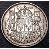 1956 Canada 80% Silver Half Dollar (50 cents) - Royal Coat of Arms - Great Condition (Grade Range VF to AU) - GREAT GIFT IDEA / STOCKING STUFFER - INCREASES IN VALUE OVER TIME!