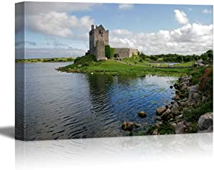 "wall26 - Canvas Prints Wall Art - View of The Dunguaire Castle, Kinvara Bay, Galway, Ireland | Modern Wall Decor/Home Decoration Stretched Gallery Canvas Wrap Giclee Print. Ready to Hang - 16"" x 24"""