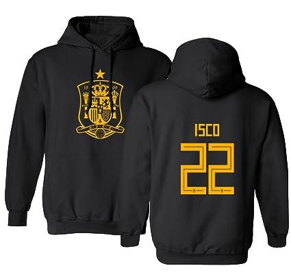 05de310c1 Tcamp Spain 2018 National Soccer  22 ISCO World Championship Men s Hooded  Sweatshirt (Black