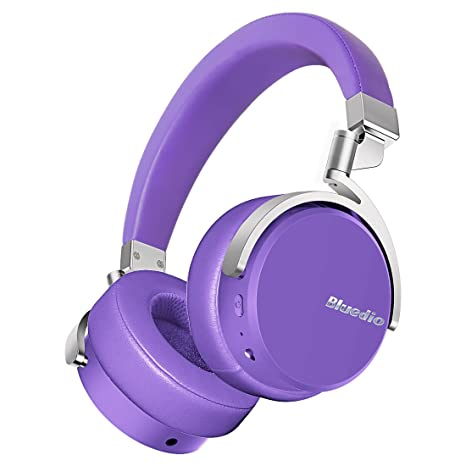 Bluedio Vinyl Auriculares Inalámbricos Bluetooth Giratorios con sonido estéreo 3D y micrófono (Violeta)