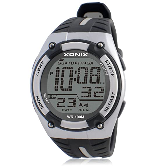 Moda impermeable reloj atmosférico deportes al aire libre de la natación/digital reloj de men