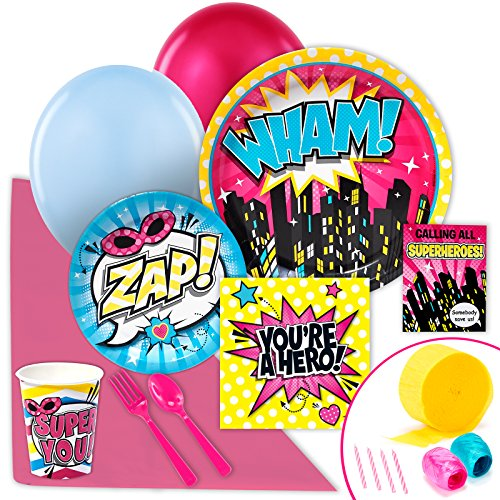 BirthdayExpress Superhero Girl Party Supplies - Value Party Pack