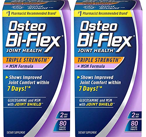 Osteo Bi-Flex® Triple Strength with MSM, 80 Coated Table, 2 Pack