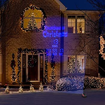 LED LightShow Countdown Projection Countdown to Christmas