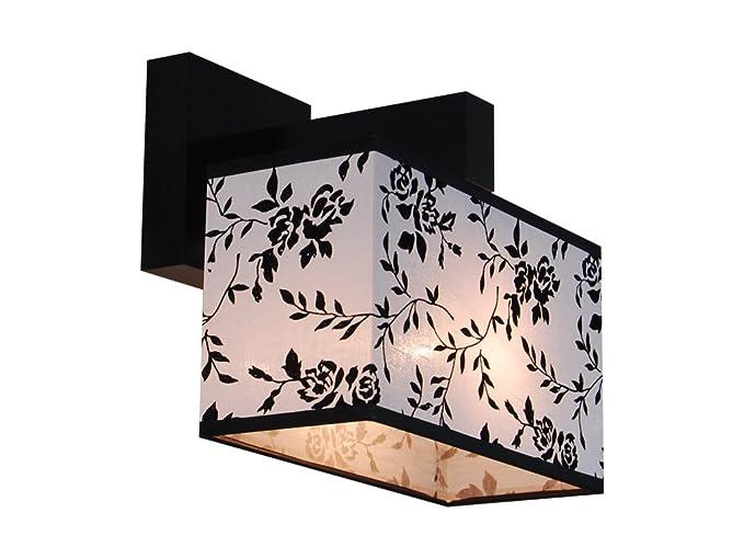 Elegante lampada da parete in legno massiccio jk23d wenge