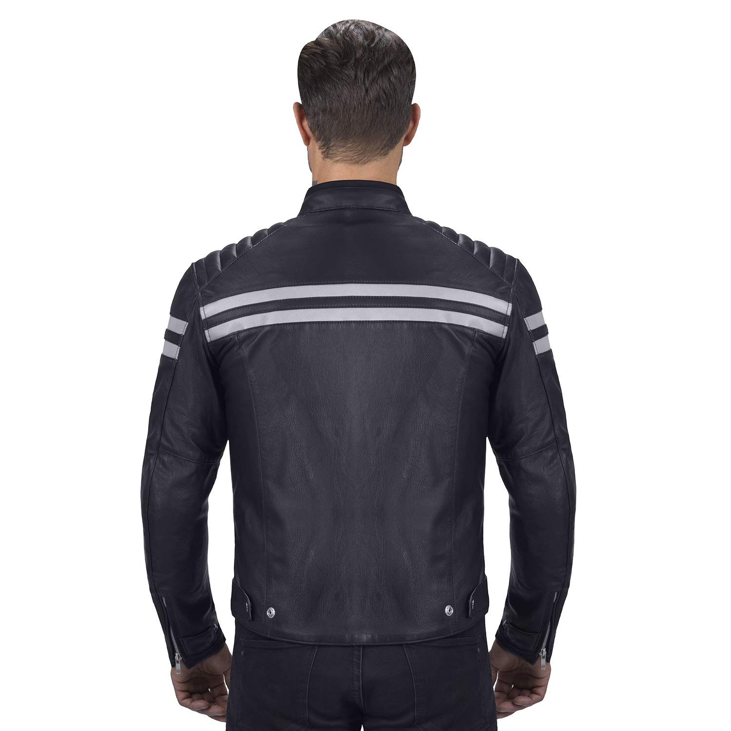 Viking Cycle Bloodaxe Leather Motorcycle Jacket for Men (X-Small) by Viking Cycle (Image #3)