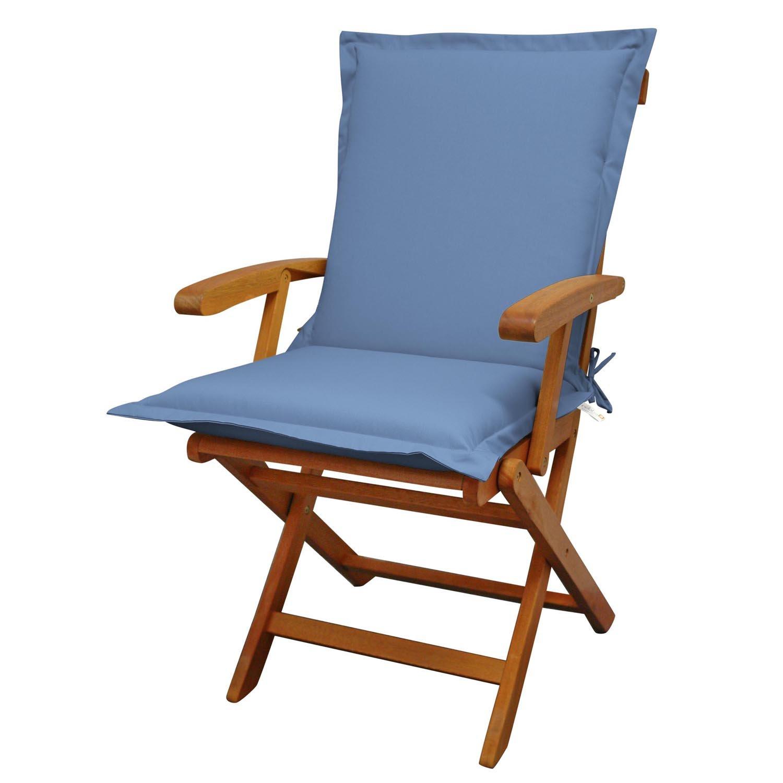 Indoba Sitzauflage Niederlehner Premium Polsterauflagen Blau