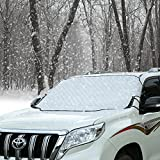 Cosyzone Car Windshield Snow & Ice Cover Frost Guard Wiper Visor Protector Windproof Auto Sun Shade for Car Minivan and SUV with Magnetic