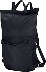 "iwill CREATE PRO 24""X 35.5"", Large Laundry Backpack with Shoulder Straps & Soft Pads, Zip Close & Carry Handle, Lingerie Buckle Pocket, Black"
