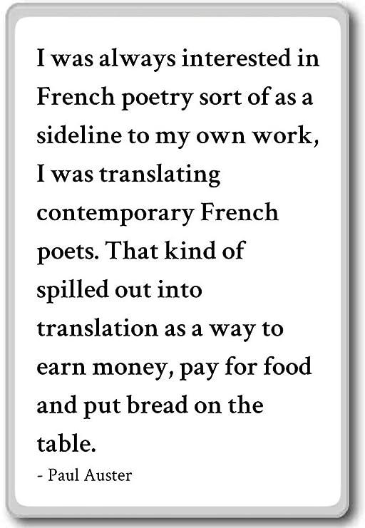 Siempre Estaba interesado en francés poesía tipo O... - Paul ...