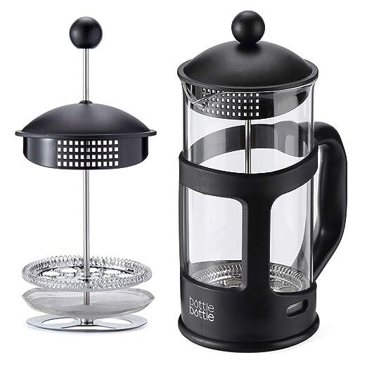 Bottlebottle - Cafetera grande francesa con filtro de acero ...