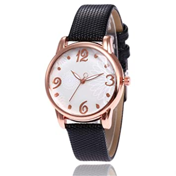 naivety Rose Gold Dial Women Watches Fashion Female Leather Quartz Wrist Watch Reloj Mujer Ladies Wrist