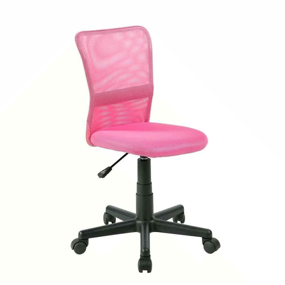 EuroStile Kids Pink Mid Back Home Task Desk Chair 8001FL United Chairs SYNCHKG098322