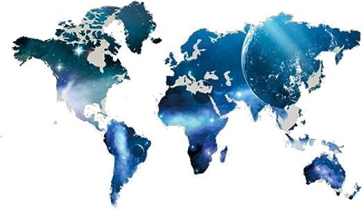 Decor Planeta Mapa del Mundo Pegatinas de Pared de Vinilo ...