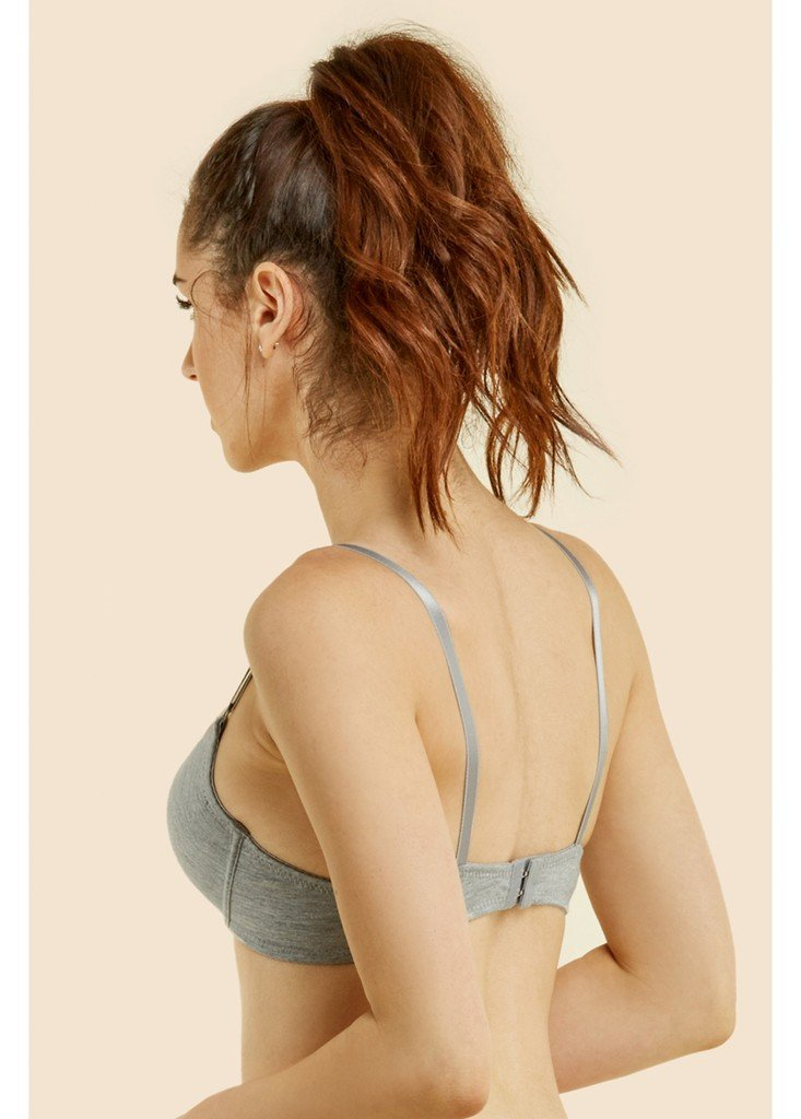 WHITE APPAREL Women's Basic Plain Bras (Packs of 6) - Various Styles, #055, 34A by Mamia (Image #4)