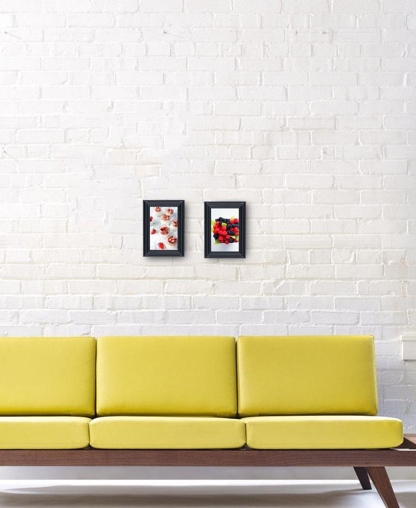 Amazon.com - Elegant Beaded Black Border Picture Frames 4x6 (6 pc ...