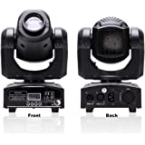 U`King LED Moving Head Light 25W DJ Lighting Stage Lights with 8 Gobos RGBW 4 Color by DMX and Sound Activated Control…