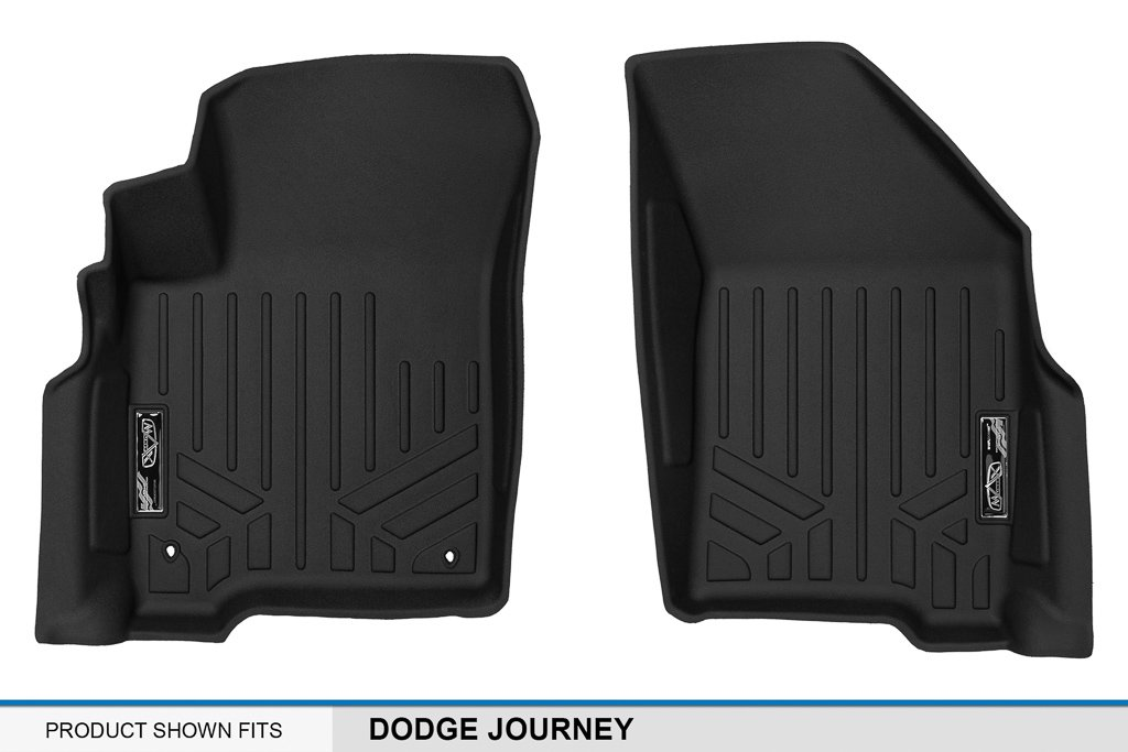 MAX LINER A0198 MAXFLOORMAT Floor Mats with Dual Hooks for Dodge Journey First Row, Black