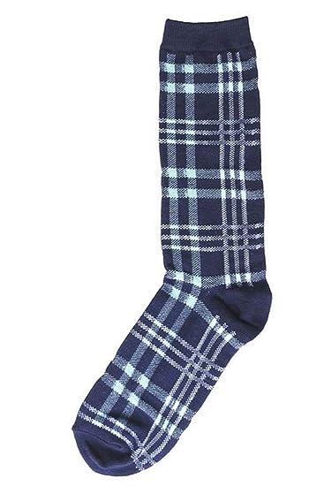 aa1963db1d34 Topaz Sun Mens Socks Denim Blue Checks One Pair at Amazon Men's ...