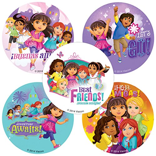 SmileMakers Dora & Friends Stickers - Birthday and Theme Party Supplies - 100 Per Pack -