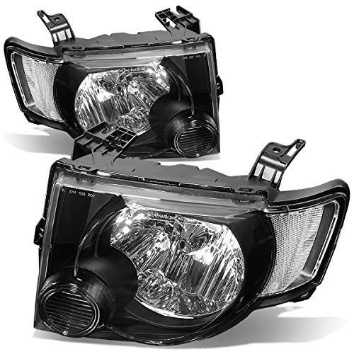 (For Ford Escape Pair of OE Style Black Housing Clear Corner Headlight)